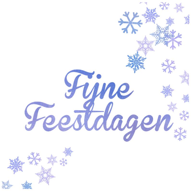 Kerstkaarten - Fijne Feestdagen Sneeuwkristal