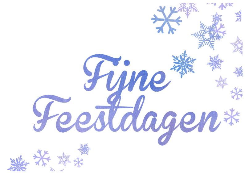 Kerstkaarten - Fijne Feestdagen Sneeuwkristal2