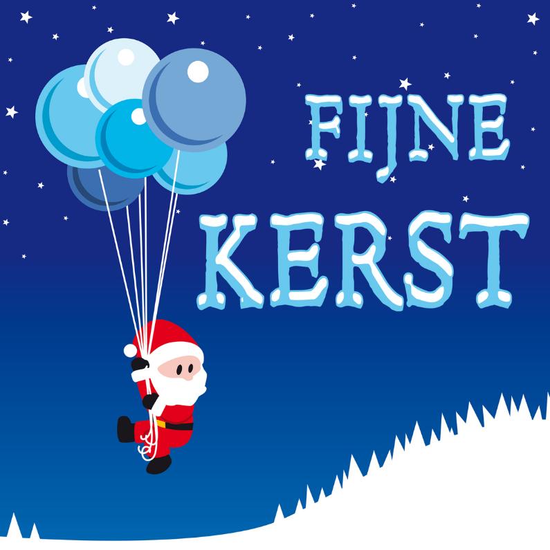 Kerstkaarten - Fijne kerst ballon TT