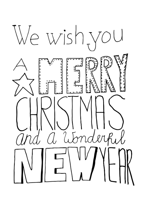 Kerstkaarten - Fijne kerst Hand Lettering - DH
