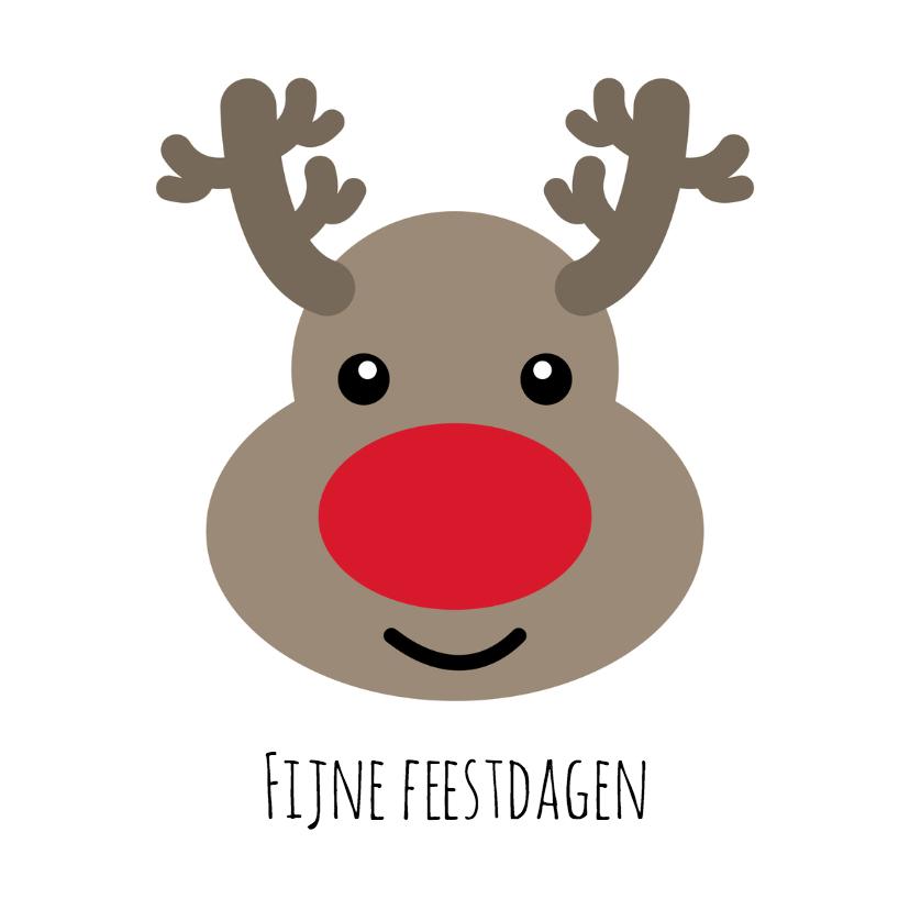 Kerstkaarten - Fijne kerst Rudolf - DH