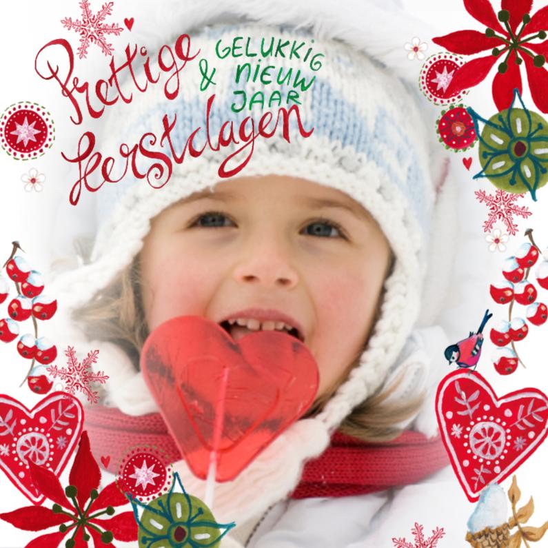 Kerstkaarten - Fijne kerst vrolijk kader