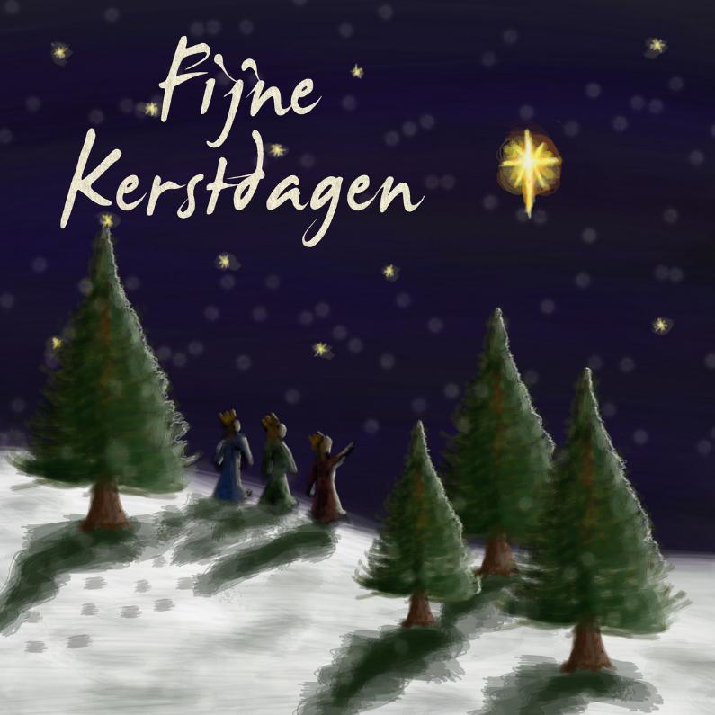 Kerstkaarten - Fijne Kerstdagen 3 wijzen TT