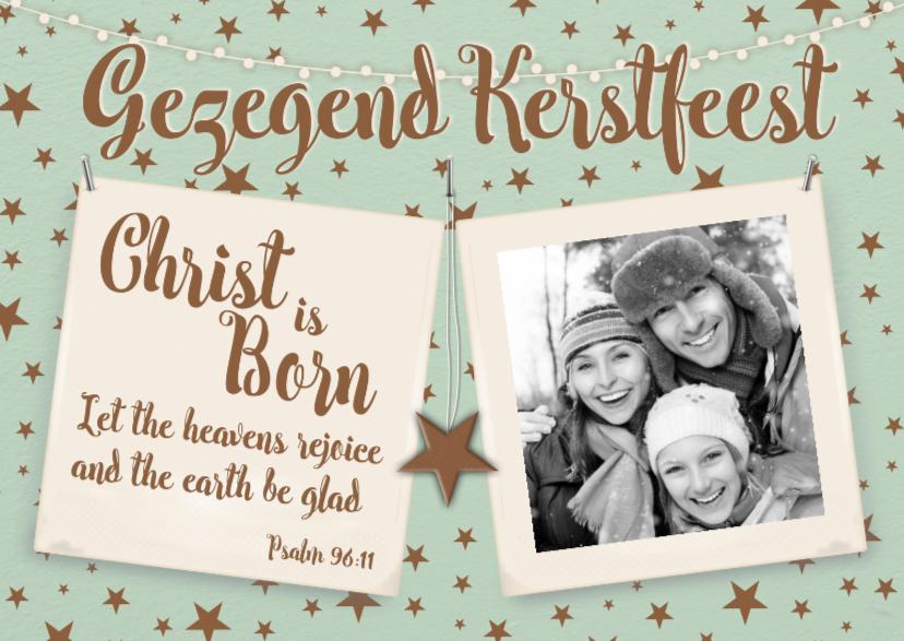 Kerstkaarten - Foto en psalm-isf