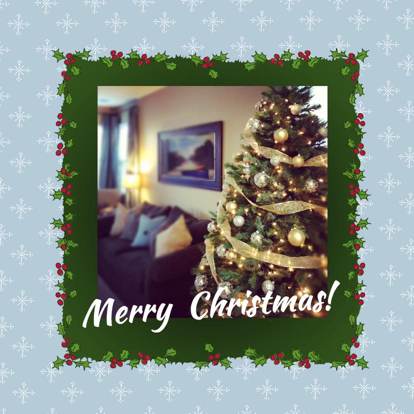Kerstkaarten - Fotokaart met hulst