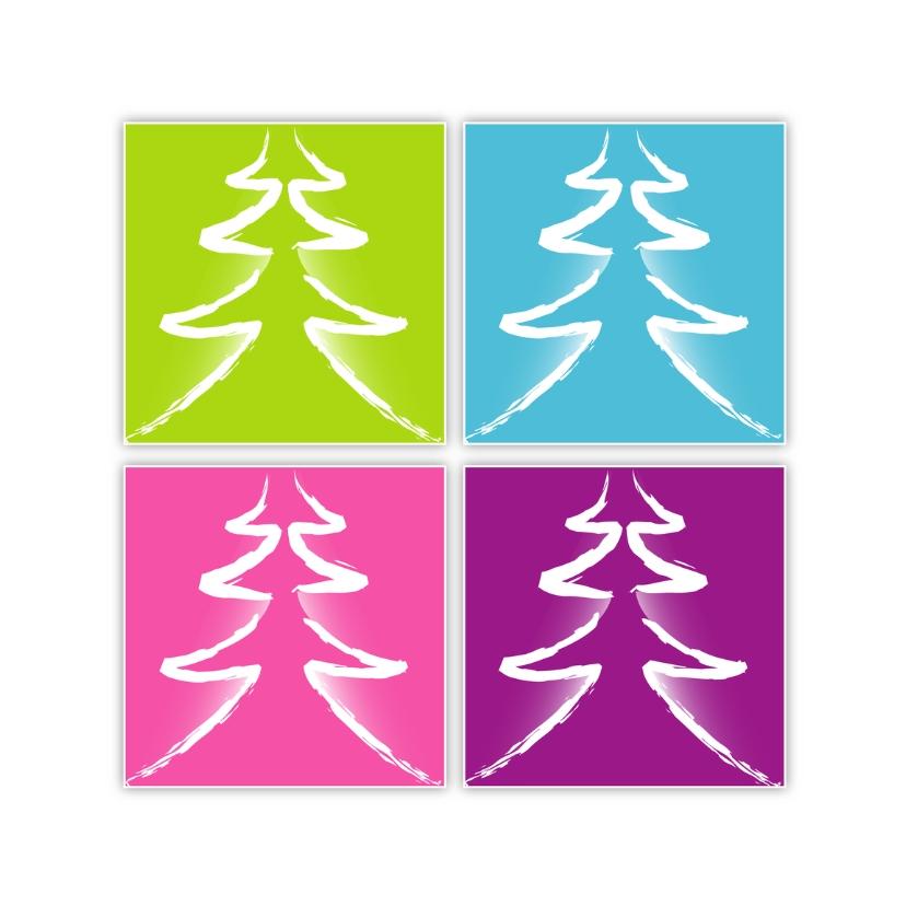 Kerstkaarten - Frisse kerstbomen