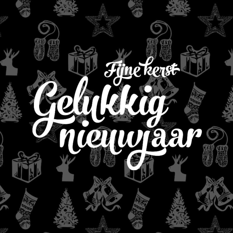Kerstkaarten - Gelukkig Nieuwjaar | patroon