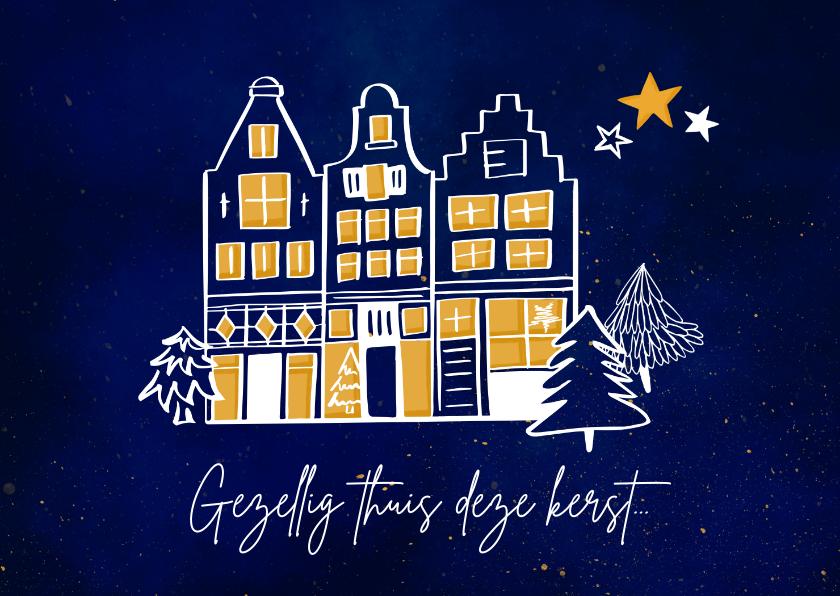 Kerstkaarten - Gezellig thuis kerstkaart