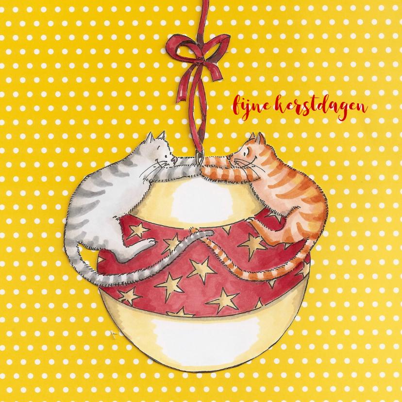 Kerstkaarten - Gijs en Mickey vieren kerst II