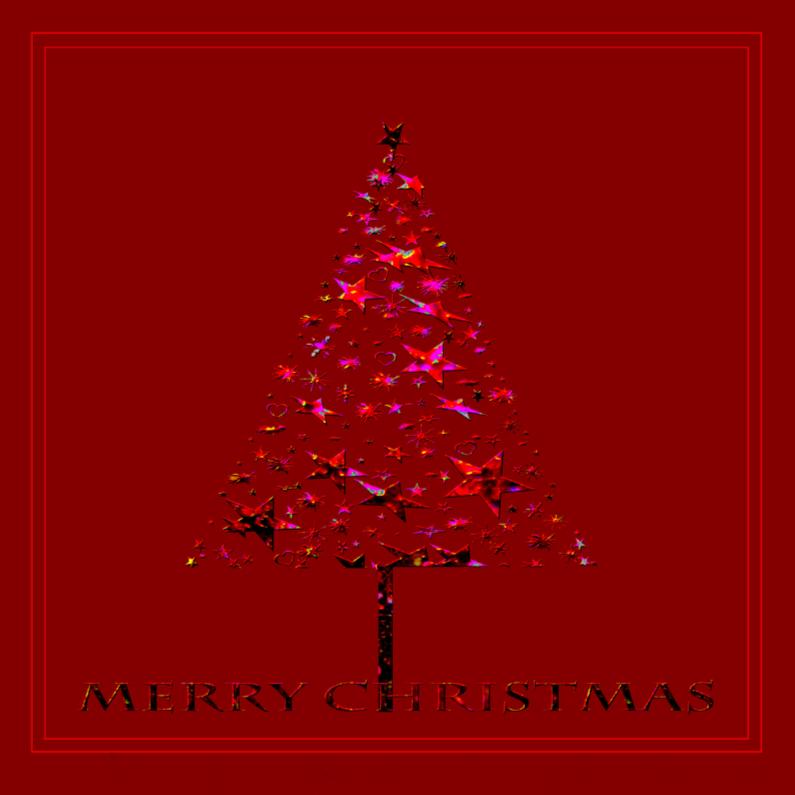 Kerstkaarten - Glinsterend boompje