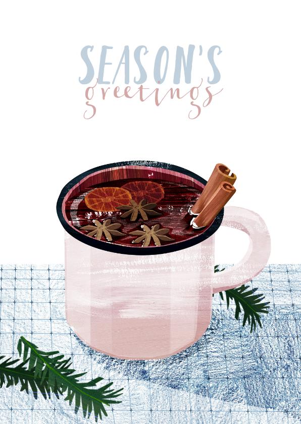 Kerstkaarten - Glühwein Kerstkaart