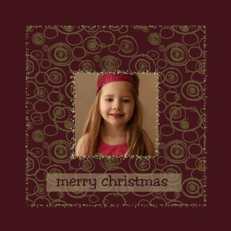 Kerstkaarten - gouden patroon