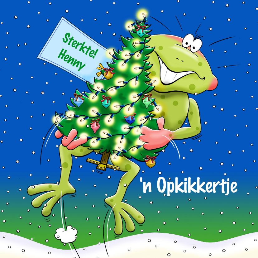 Kerstkaarten - Grappige Kerst-beterschapskaart voor tijdens de feestdagen