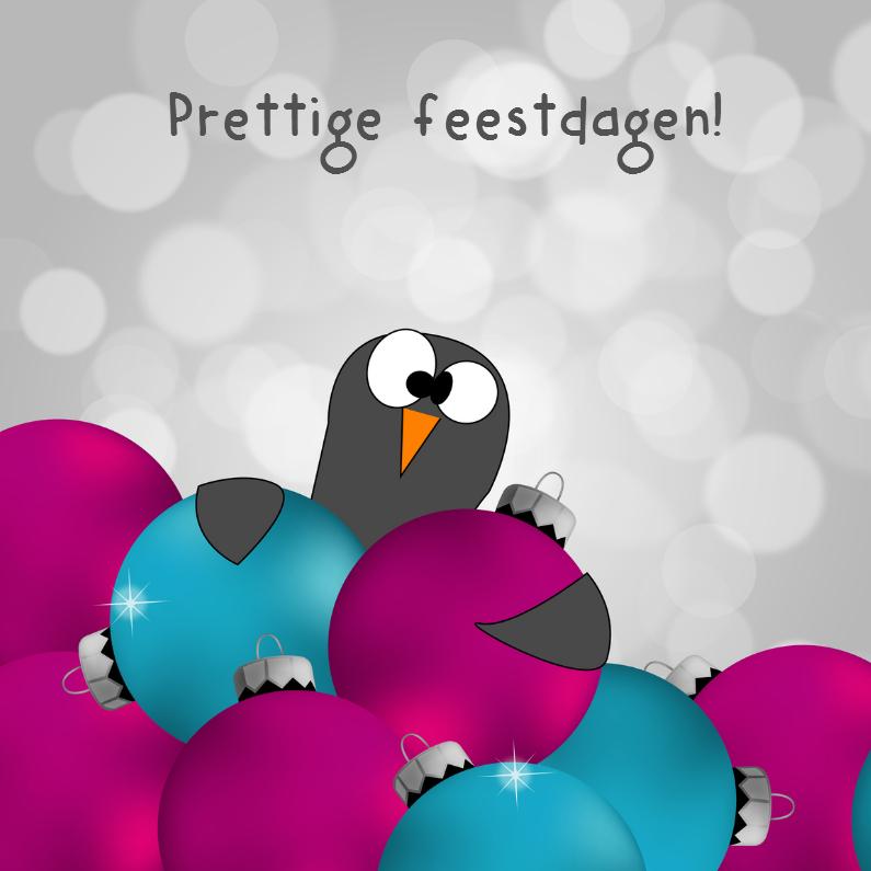 Kerstkaarten - Grappige kerstkaart pinguïn