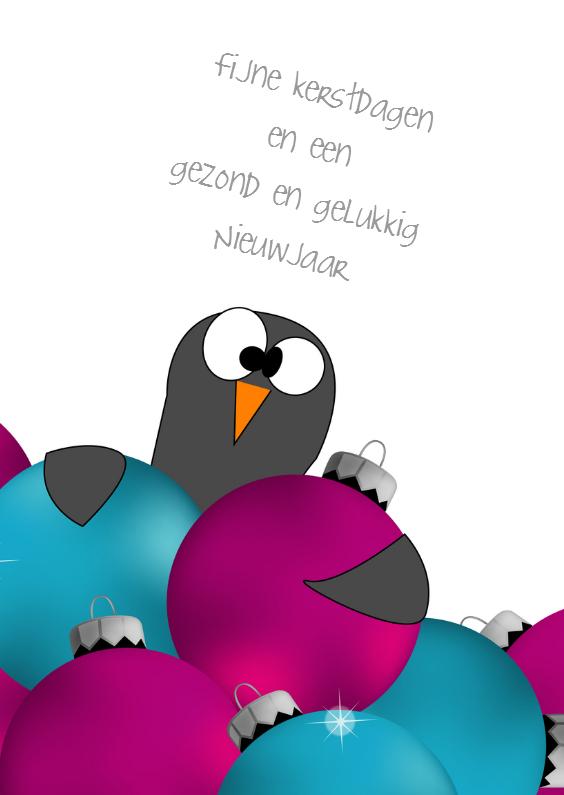 Kerstkaarten - Grappige pinguin kerstkaart