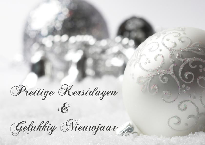 Kerstkaarten - Grijs-witte kerstkaart