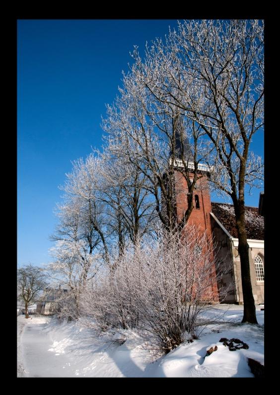Kerstkaarten - groninger kerkje