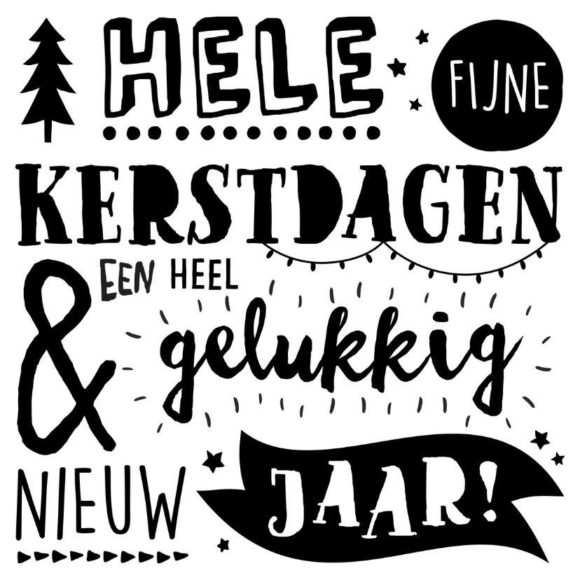 Kerstkaarten - Handlettering Kerstkaart NL