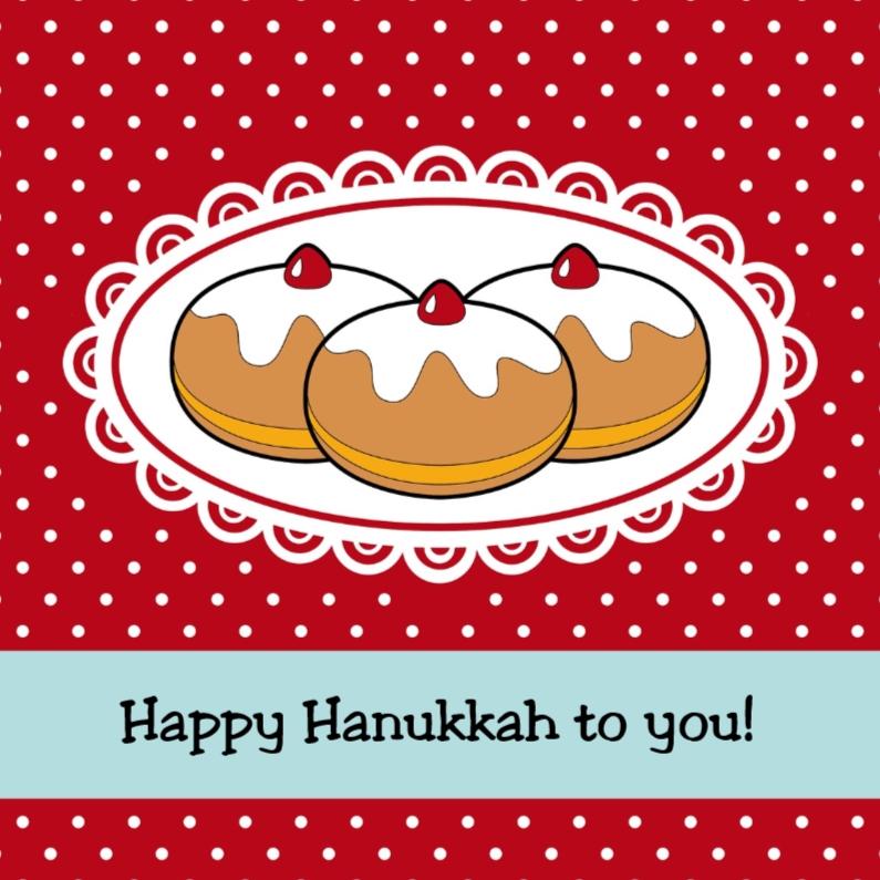 Kerstkaarten - Hanukkah donuts