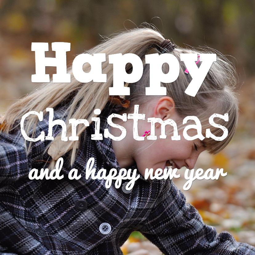 Kerstkaarten - Happy Christmas - happy new year