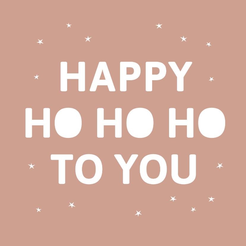 Kerstkaarten - Happy Ho Ho Ho kerstkaart met kleine sterretjes