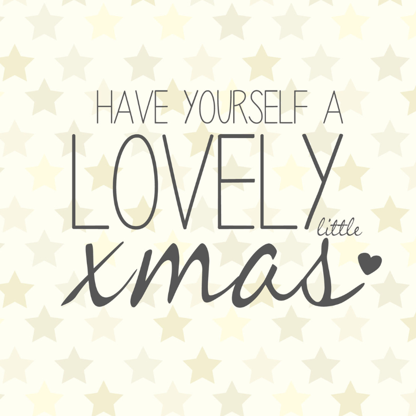 Kerstkaarten - Have yourself a lovely xmas -BF