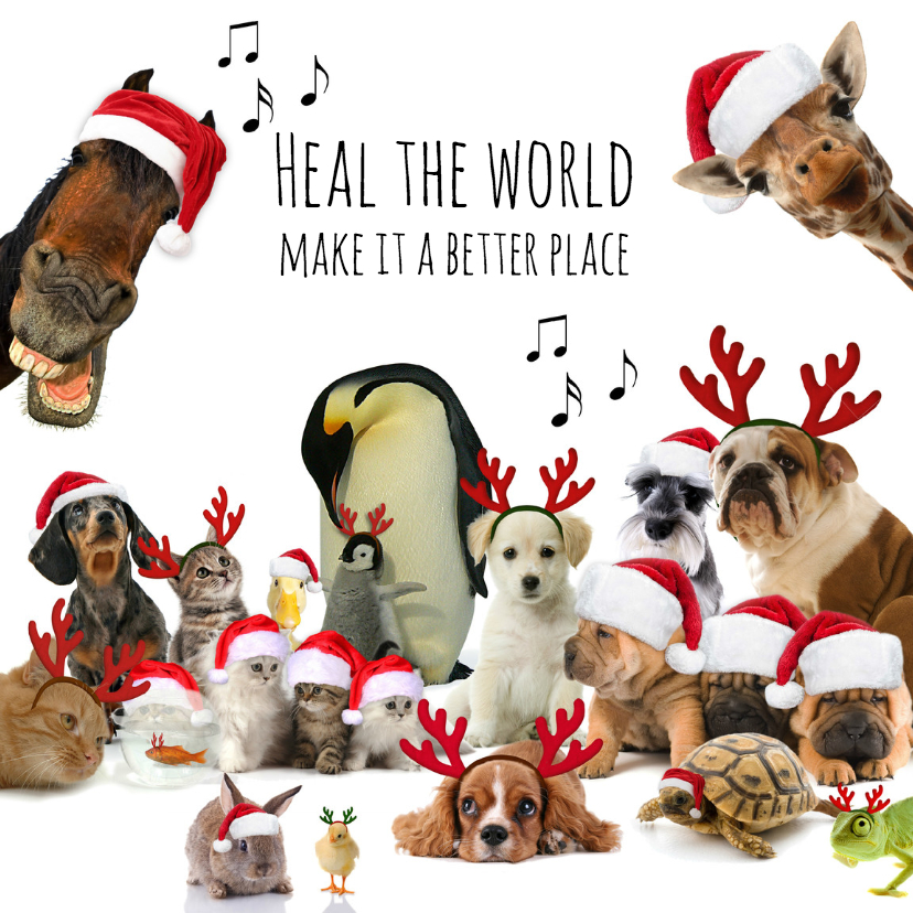 Kerstkaarten - Heal the world-isf