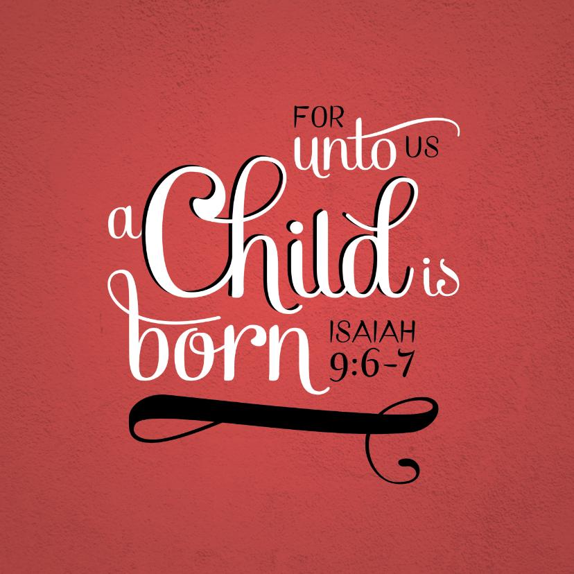 Kerstkaarten - HEE Goodies kerstkaart Jesaja 9