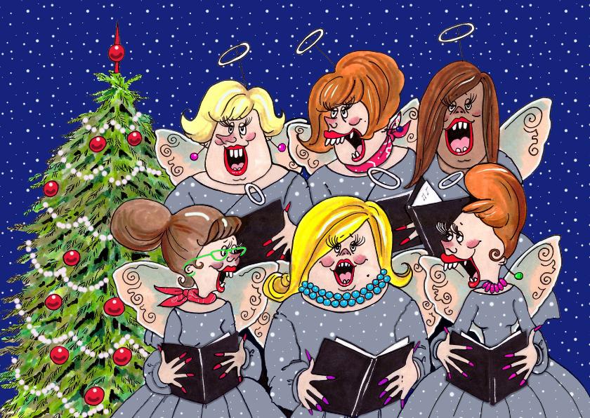 Kerstkaarten - Het dames kerstkoor