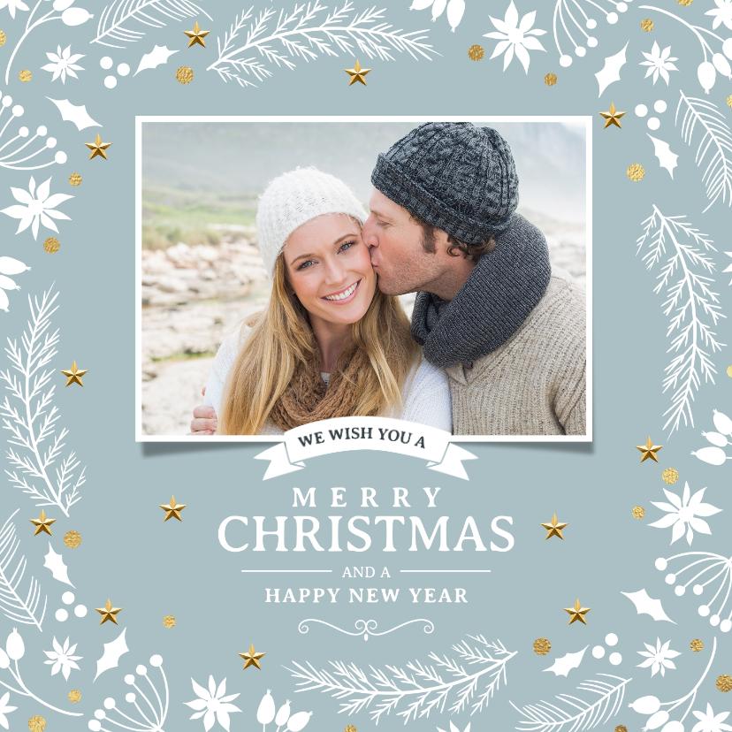 Kerstkaarten - Hippe foto kerstkaart winter kersttakjes