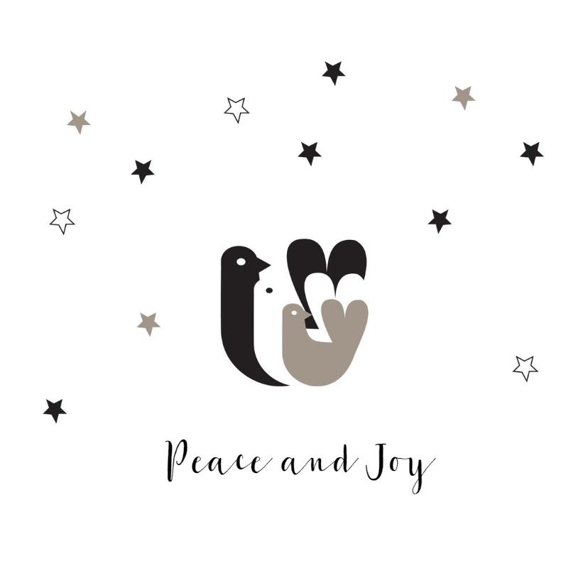Kerstkaarten - Hippe kerstkaart duiven