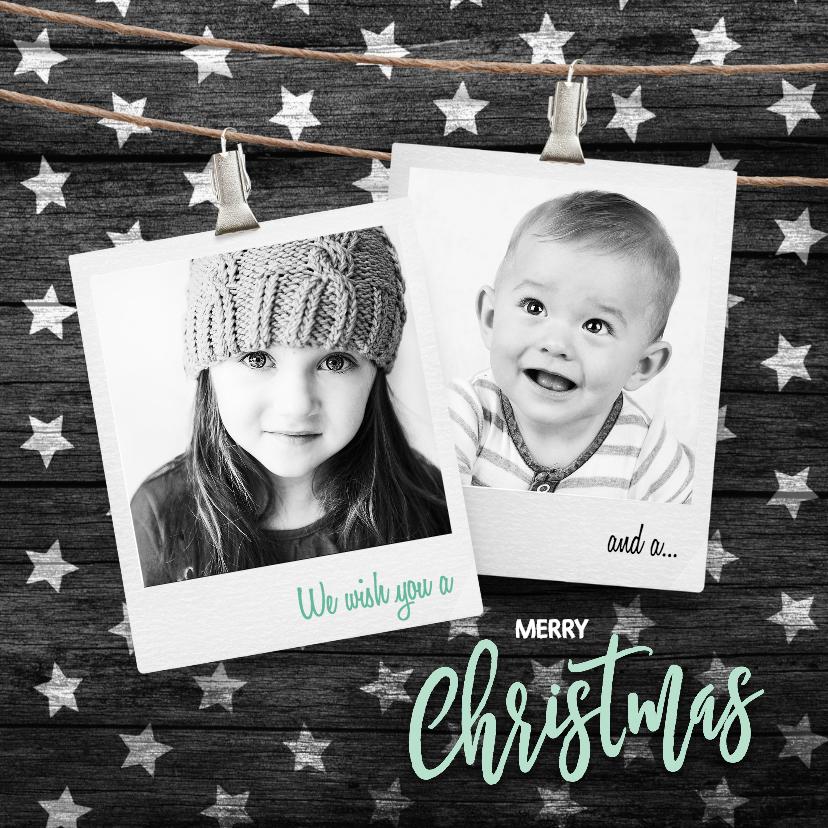 Kerstkaarten - Hippe kerstkaart zwart
