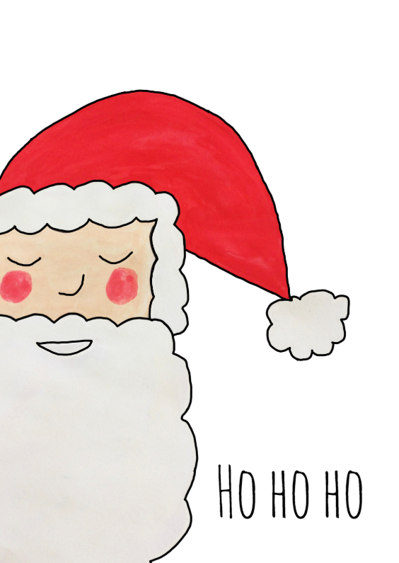 Kerstkaarten - Ho ho ho - DH