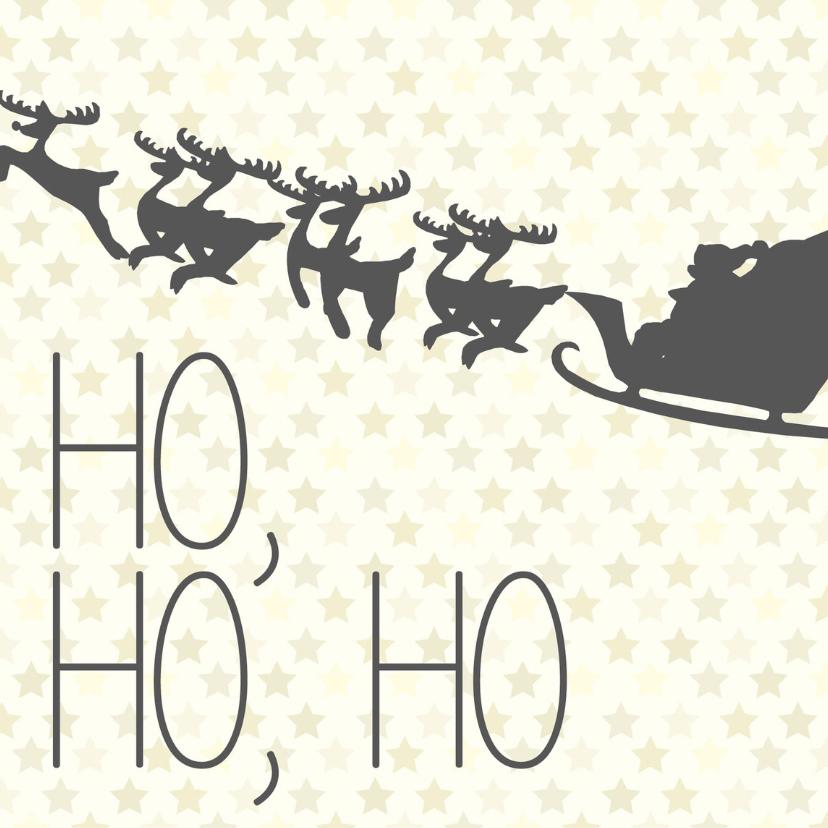 Kerstkaarten - Ho, Ho, Ho Merry X-mas -BF