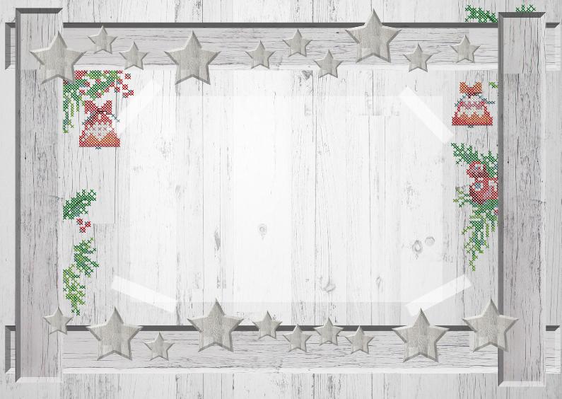 Kerstkaarten - Houten fotolijst