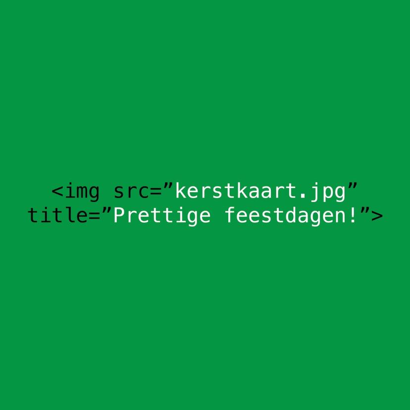 Kerstkaarten - HTML image groen