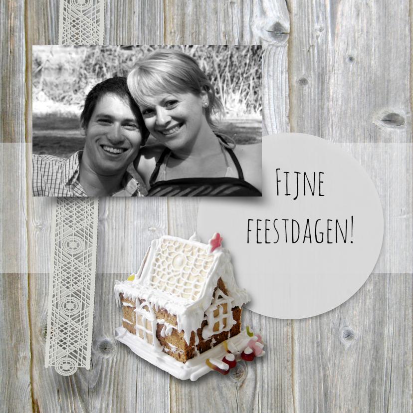 Kerstkaarten - Huisje van slagroom en koek