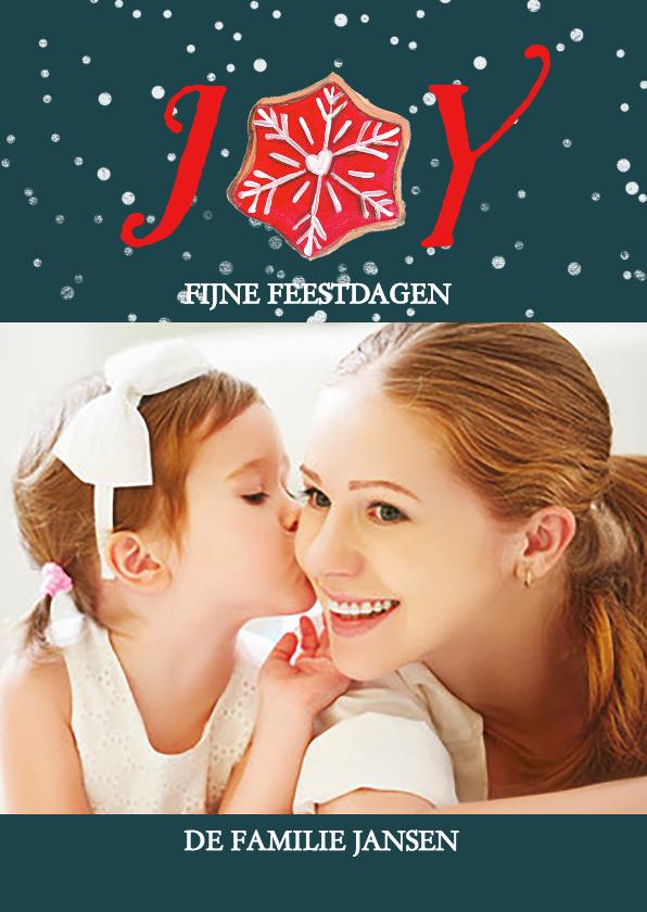Kerstkaarten - Joy Kerst koekje