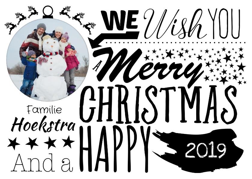 Kerstkaarten - Kaart met kerst illustraties