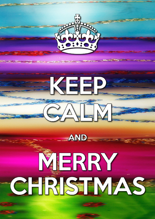 Kerstkaarten - Keep Calm & Merry Christmas - OT