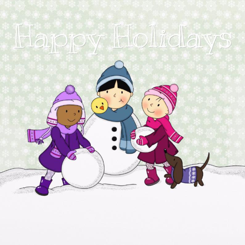 Kerstkaarten - Kerst Bebe en zusjes - TbJ