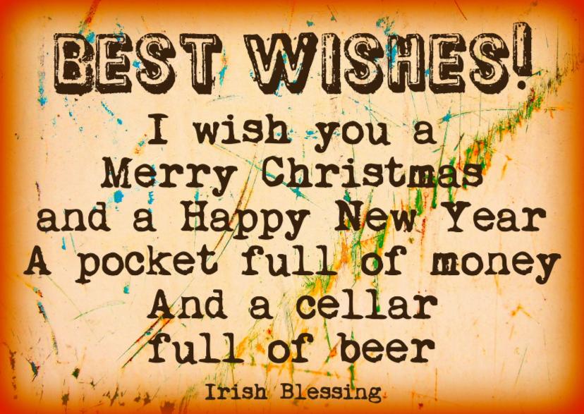 Kerstkaarten - Kerst Best Wishes For You! IW