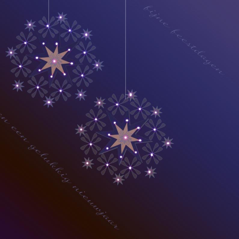 Kerstkaarten - Kerst Blauw verloop