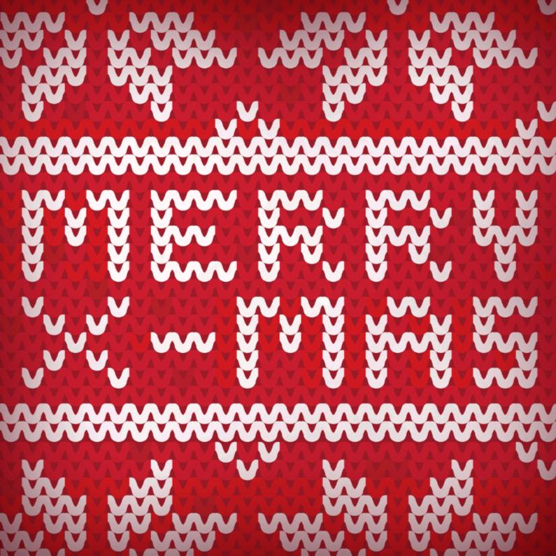 Kerstkaarten - Kerst breisel 1