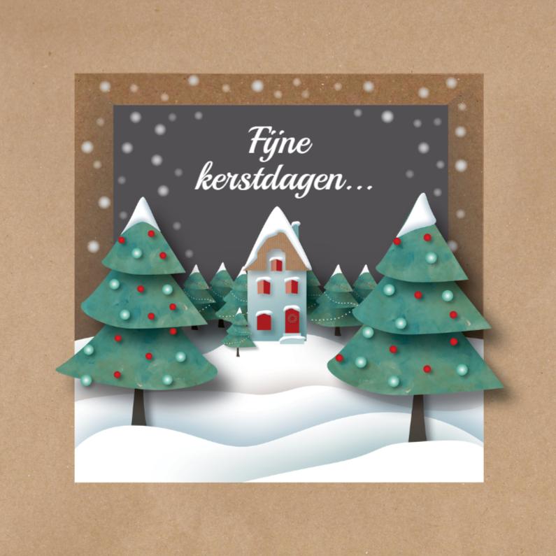 Kerstkaarten - Kerst - Brown Paper Kerst - MW