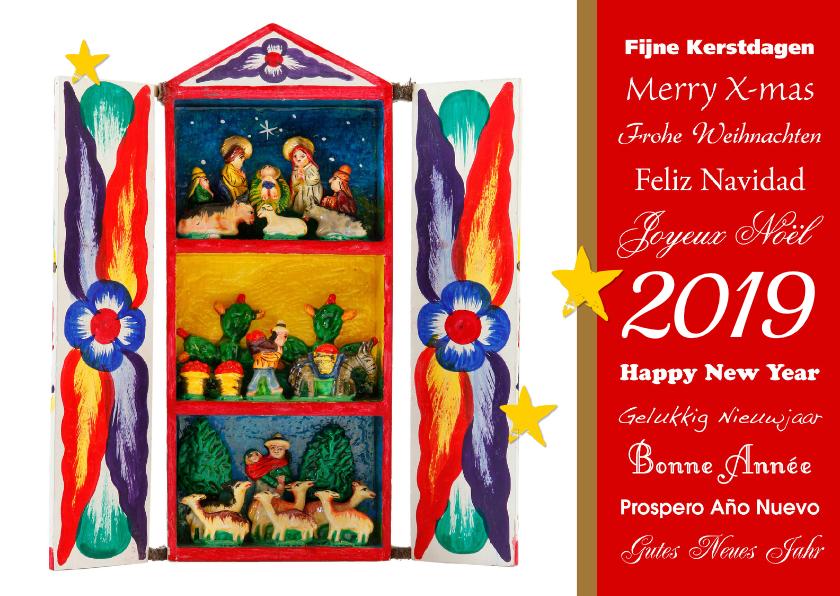 Kerstkaarten - Kerst Christelijk kerststal 2019 - OT