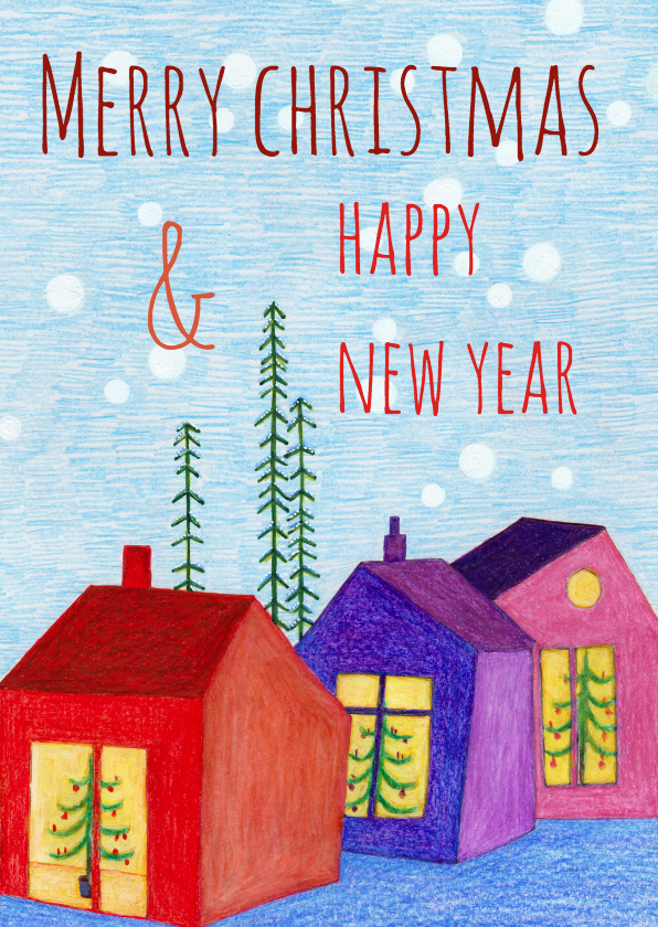 Kerstkaarten - kerst-christmas and happy-KK
