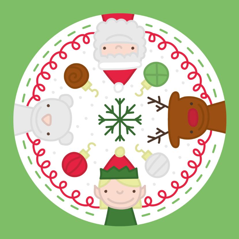 Kerstkaarten - Kerst Cirkel