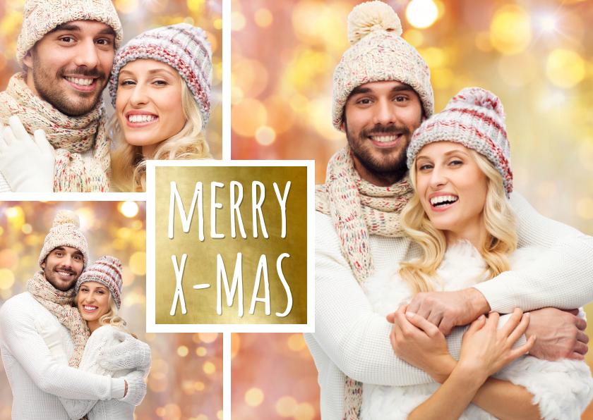 Kerstkaarten - Kerst collage goud