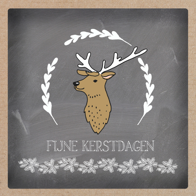 Kerstkaarten - Kerst deer